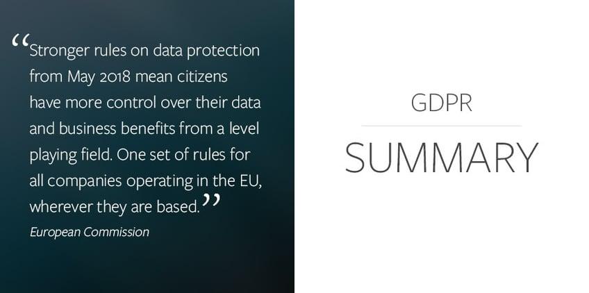 EU GDPR Summary