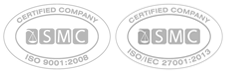 ISO9001 and ISO27001 Certification logos